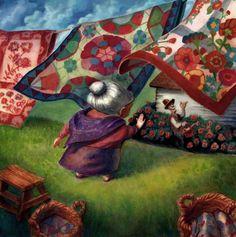 """Mrs. Lavender's Flowers""  Иллюстратор Scott Brundage"