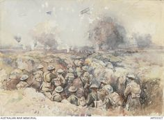 Live blog from the Passchendaele trenches: https://justinfoxafrica.wordpress.com/category/blog/ Caption: Aircraft overhead. (Photo: Australian War Memorial)