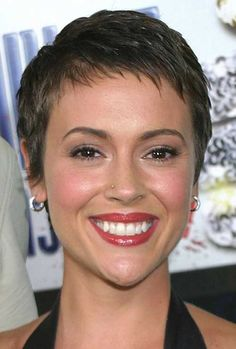 Very Short Brown Pixie Haircut                              …