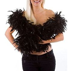 Feather boa - black - great for hen and stag nights by Feather boas: Amazon.co.uk: Kitchen & Home