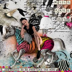 My DD- photo by Miguel Da Silva Credits: Be Wild And Free - Collection : Studio Angie Young http://shop.scrapbookgraphics.com/Be-Wild-and-Free-Collection.html