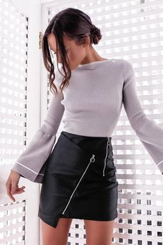 Glamaker Faux Leather Skirt