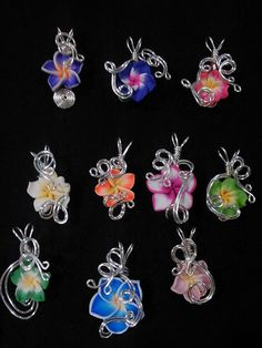 WHOLESALE  10 Assorted  Aromatherapy Wire Wrapped  by Nixcreations, $100.00