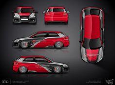 AUDI S3 part wrap design   DESIGN ATELIER TTSTUDIO