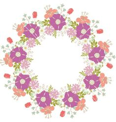 Floral frame vector by ARNICA on VectorStock®