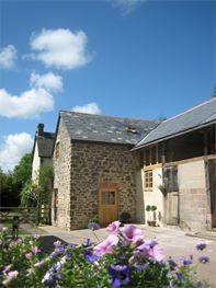 Bed and Breakfast accommodation at Streamcombe is in the converted stone barn and annexed from the main house.  Guests have their own access.