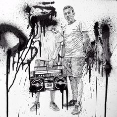 #drawing #draw #ilustration #modernart #sketch #bw #hiphop #streetculture #graffitistyle #spraycans