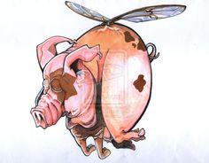 When Pigs Fly by GROOCH.deviantart.com on @deviantART