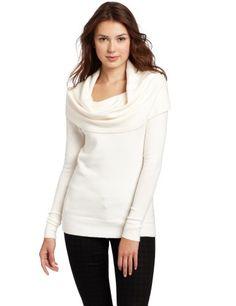 Bcbgmaxazria Women's Love Sweater Top, Gardenia, Large