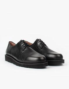 Soulland Strue Shoe in Black Leather