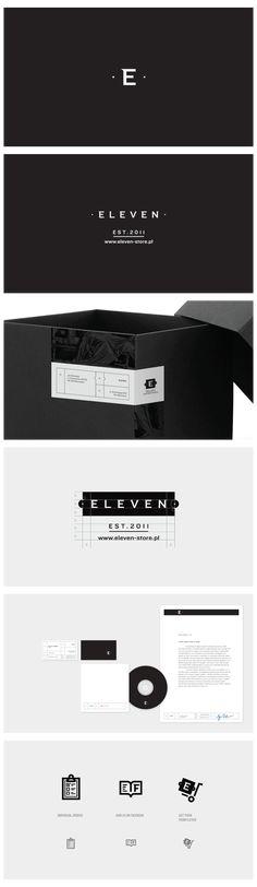 Beautiful minimalistic branding for 'ELEVEN' Corporate Identity, Corporate Design, Business Branding, Visual Identity, Logo Branding, Brand Identity Design, Graphic Design Branding, Packaging Design, Logo Design