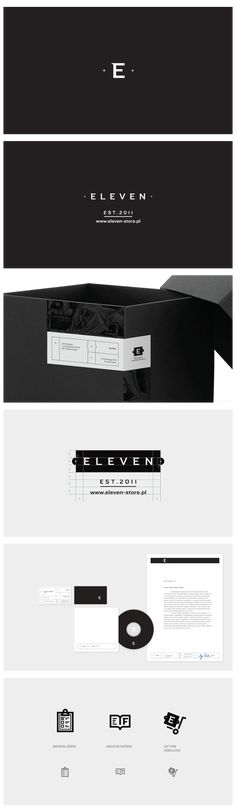 eleven | #stationary #corporate #design #corporatedesign #logo #identity #branding #marketing <<< repinned by an #advertising agency from #Hamburg / #Germany - www.BlickeDeeler.de | Follow us on www.facebook.com/BlickeDeeler