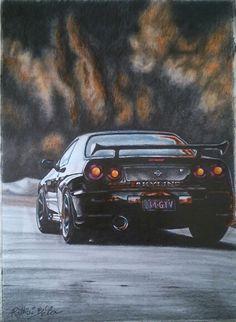 Nissan Skyline, A/3-ra, ceruza