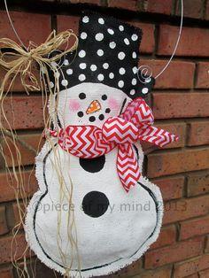 Full Body Snowman Burlap Door Hanger Door by nursejeanneg on Etsy Burlap Projects, Burlap Crafts, Diy Crafts, Christmas Makes, Christmas Door, Christmas 2014, Xmas Ornaments, Christmas Decorations, Burlap Ornaments