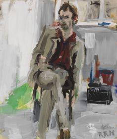 "thunderstruck9: "" Rainer Fetting (German, b. 1949), Klaus, 1978. Oil on canvas…"