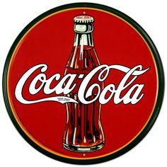 Coca Cola Placa de lata