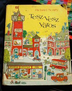 Richard Scarry's What do People Do All Day? I Love Books, My Books, Library Books, Richard Scarry, Vintage School, Film Books, Vintage Children's Books, Children's Literature, Book Illustration