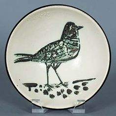 Picasso Ceramic Engraving Madoura Sculpture Signed, Bird, 1955