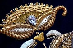 Bullion Embroidery, Gold Work, Brooch, Image, Jewelry, Style, Embroidery, Swag, Jewlery
