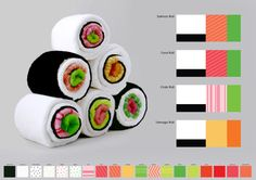 Sushi towels - make me hungry before I clean up the table