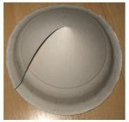 China-Hut basteln aus Pappteller