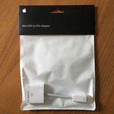 APPLE MINI-DVI TO DVI ADAPTER  M9321G/B MAC AUTHENTIC ORIGINAL OEM GENUINE #APPLE