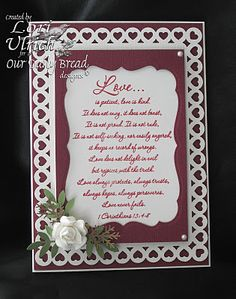Stamps - Our Daily Bread Designs - 1 Corinthians; Paper - Bazzill & Colorbok; Spellbinders Labels Seventeen
