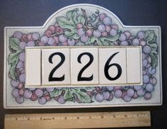 It would also make an interesting & decorative conversation piece. Metal House Numbers, House Number Plaque, Door Numbers, House Address, Address Plaque, Santa Barbara, Letter Addressing, Office Signs, Outdoor Signs