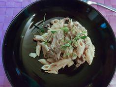 Pasta penne med viltskav Penne Pasta, Cabbage, Vegetables, Food, Essen, Cabbages, Vegetable Recipes, Meals, Yemek