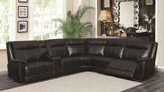 Want something stylish yet comfortable for your #LivingRoom? With its sleek black bonded #leather upholstery, you can't go wrong with Coaster's Cullen Powered Reclining Sectional for just $1,605! This item features 2 #recliners, USB outlets, a storage console, & 2 cup holders. Get more info by calling/texting 972-698-0805 or clicking on the pic above! #RecliningSectionals #sectionals #LeatherFurniture #furniture #decorating #DFW #Dallas #FortWorth Reclining Sectional, Cup Holders, Recliners, Bonded Leather, Leather Furniture, Furniture Online, Texting, Outlets, Console
