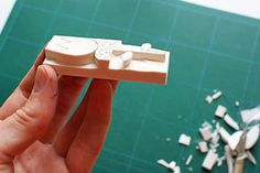 A Piece of Lisa: DIY - How To Create Stamps From Erasers