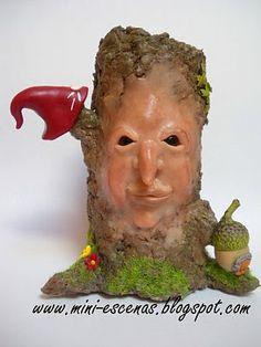 One of my handcraft Fairy tree trunks