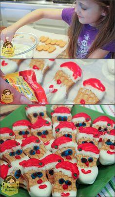 Menu Musings of a Modern American Mom: Nutter Butter Santa Cookies