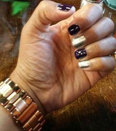 Passion purple /silver glimmer