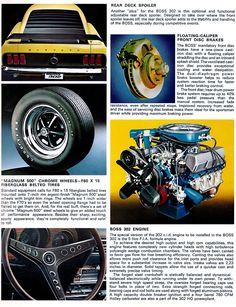 69 70 1969 1970 MUSTANG Mach 1 Boss 302 Grande SPORT RACING MIRROR GASKET PAIR
