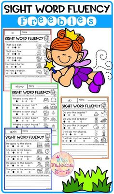 This resource is perfect from preschool to third graders. There are 7 pages with 35 sight word sentences. This resource Sight Word Sentences, Teaching Sight Words, Sight Word Worksheets, Sight Word Activities, Classroom Activities, Word Bingo, Fluency Activities, Word Games, Reading Fluency