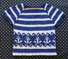 child's anchors away sweater free knitting pattern