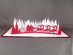 3d Pop Up Santas Sleigh Greeting Card Merry Christmas Wedding Postcard Gift Hot Smoothing Circulation And Stopping Pains Wedding & Anniversary Bands