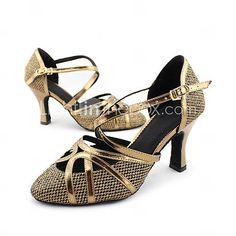 Customizable Women's Dance Shoes Modern/Ballroom Sparkling Glitter Customized Heel Gold 823772 2016 – $27.99