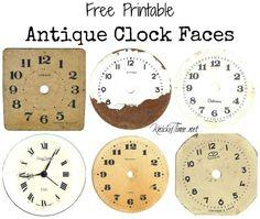 Antique Clock Face Graphics
