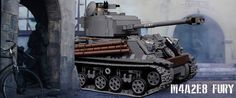 """Motorized LEGO M4A2E8 Sherman """"Easy Eight"""" tank from Fury [Video]"""