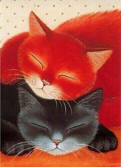 Cats in Art, Illustration, Anna Hollerer Crazy Cat Lady, Crazy Cats, Image Chat, Photo Chat, Cat Drawing, Beautiful Cats, Beautiful Things, Cool Cats, Cat Art