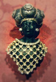 "Venetian Blackamoor Bust Mek Toub ""traforo bust""  - Dogale Jewellery Venice Italia gold laboratory"