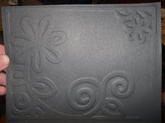 I am so excited about this video! :) I am going to show you how to make your own embossing plates!  This means that you will be able to design your own embossed images on cards or layouts using your Cuttlebug or Big Shot! Here is the embossed image I made today! Note: IF using a Cuttlebug the