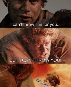 sam - frodo - lotr - lord of the rings - alternative ending - catchymemes Movie Memes, R Memes, Jokes, Movie Tv, Stupid Funny Memes, Hilarious, Earth Memes, O Hobbit, Hobbit Humor