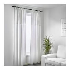 PÄRLBLAD Curtains, 1 pair - IKEA ... for Greta's room? Need five pair. Will they work with the light blocking curtain and a double rod?
