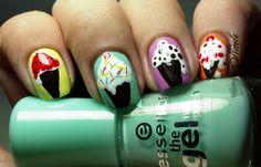 RainPow Nails: Candy Nails - Her mit der Eiscreme!