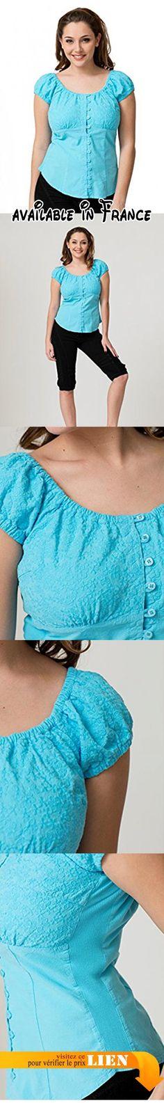 B072Q2HM9T : La Cotonniere - Chemise Pandora 100% Coton Turquoise T3.