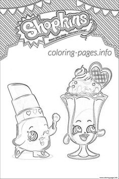 Shopkins Suzie Sundae Coloring Pages Printable And Book To Print For Free Find More Online Kids Adults Of
