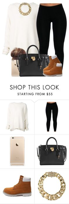 """""""Tan and Ivory. ✨"""" by livelifefreelyy ❤ liked on Polyvore featuring URBAN ZEN, Michael Kors, Timberland and AllSaints"""